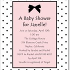 Dotted Bow Baby Shower Invitations