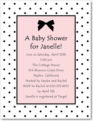 Dotted bow baby shower invitations invitation crush dotted bow baby shower invitations filmwisefo
