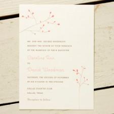 Blossom Wedding Invitations