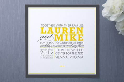 Cocktail Hour Wedding Invitations
