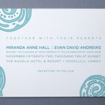Contemporary Chic Wedding Invitations