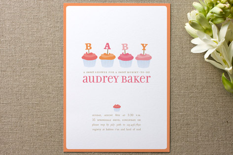 cupcake baby shower invitations invitation crush