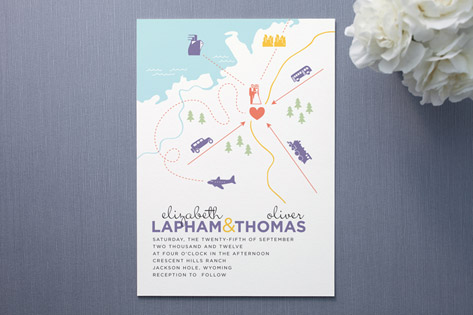 destination wedding invitations - invitation crush,