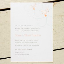 Hibiscus Wedding Invitations