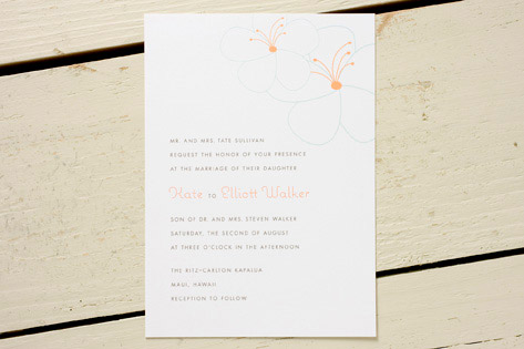 Hibiscus Wedding Invitations