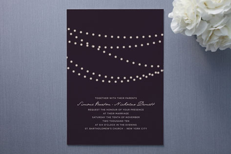 Superior Midnight Vineyard Wedding Invitations
