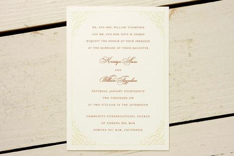Nectarine Wedding Invitations Invitation Crush