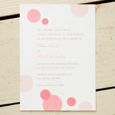 Pink Bubbles Wedding Invitations