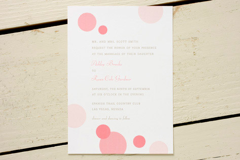 Pink Bubbles Wedding Invitations