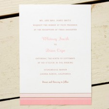 Pink Hampton Stripe Invitations