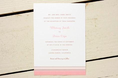 Pink Hampton Stripe Invitations