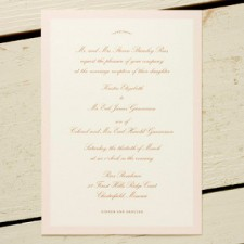 Pink Pearl Brown Invitations