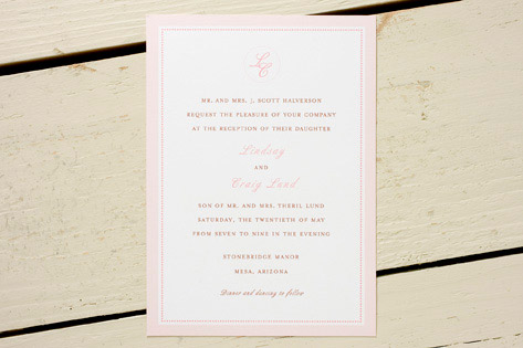 Pink Ticking Invitations