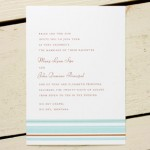 Pool Hampton Stripe Invitations