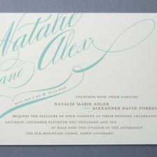 Winter Flourish Wedding Invitations
