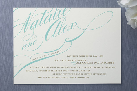 Winter Flourish Wedding