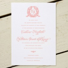 Acanthus Monogram Letterpress Wedding Invitations