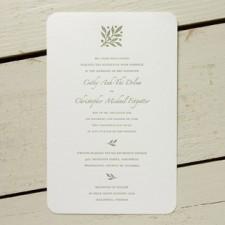 Beaulieu Letterpress Wedding Invitations