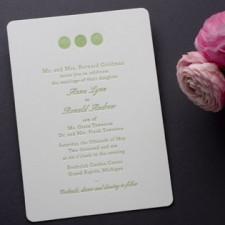 Decorative Bellini Letterpress Wedding Invitations