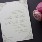 Black Tied Wedding Invitations