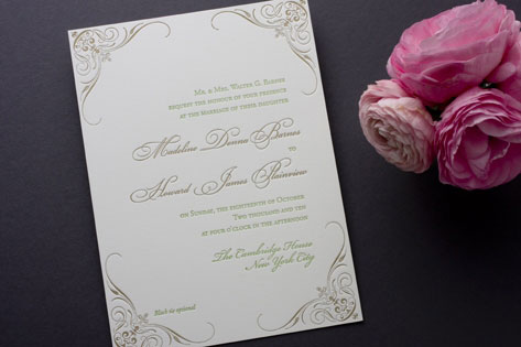 Black Tied Wedding Invitations