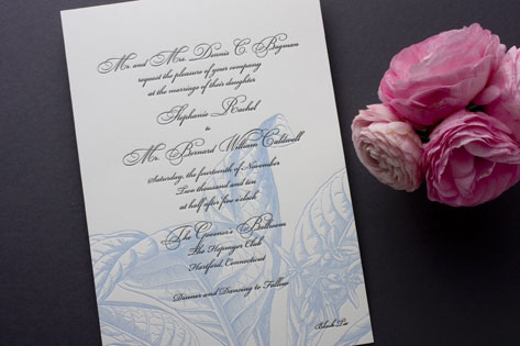 Botanical Royal Botanica Letterpress Invitations