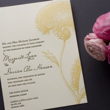Botanical Bijoux Letterpress Wedding Invitations