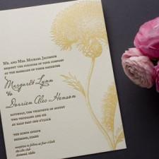 Botanical Bijoux Letterpress Wedding Invitations
