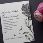 Botanical English Garden Letterpress Invitations