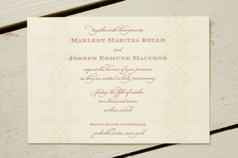 Carmen Letterpress Wedding Invitations