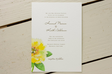 Cat Seto Blossom Wedding Invitations