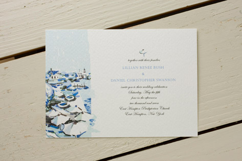 Cat Seto Villa Wedding Invitations