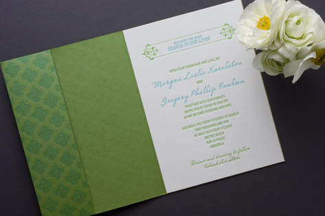 Destination Jet Set Letterpress Wedding Invitations