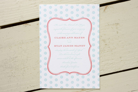 Dotti Letterpress Wedding Invitations