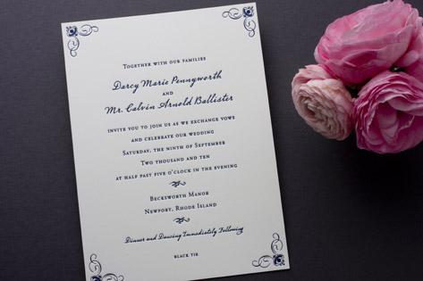 Dream Letterpress Wedding Invitations
