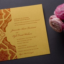 Embark Letterpress Wedding Invitations