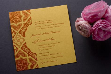 Embark Letterpress Wedding Invitations
