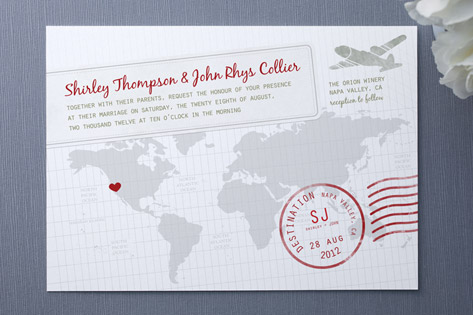 a faraway destination wedding invitations - invitation crush,
