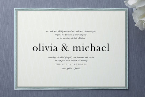 Float Framed Wedding Invitations