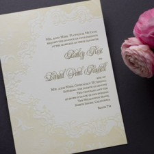 Grand Palais Letterpress Wedding Invitations