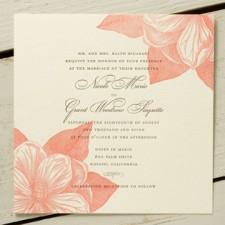 Magnolia Letterpress Wedding Invitations