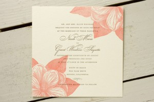 Magnolia Letterpress Wedding Invitations