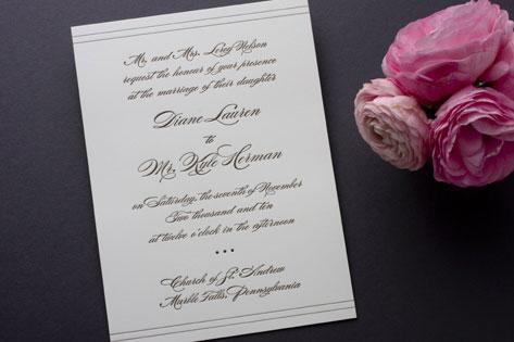 Noir Allure Wedding Invitations