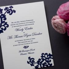 Decorative Orientalia Letterpress Wedding Invites