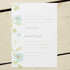 Sage Flora Wedding Invitations
