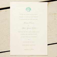 Shell Wedding Invitations