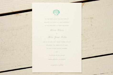 Shell Wedding Invitations
