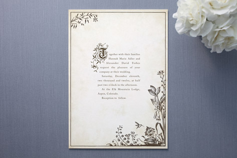 story book wedding invitations - invitation crush, Wedding invitations