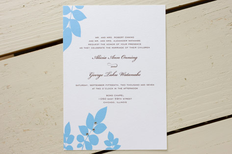 Tiffany Wedding Invitations