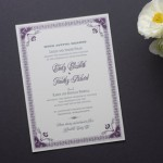Vintage Ornamental Letterpress Wedding Invitations